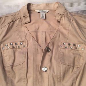 Khaki bling blazer jacket size 8